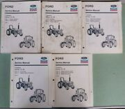 Ford Tractor Series 10 30 Service Manuals Lot Of 5