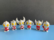 Vintage Lot Of Six Ultraman Family Members Wind Up Toy Used Free Ship Display