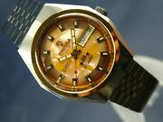 Tressa Lux Crystal Automatic Swiss Watch 1970s Nos Cal As 5206 Vintage Retro