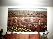 Original Mexican Painting 7 By Casiano Garcia Women With Flowers In A Field