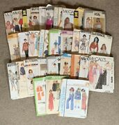 Vintage 70s-80s Clothing Patterns Mixed Lot Of 31 Mccalls Butterick Simplicity