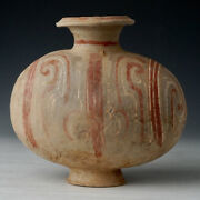 Han Dynasty Antique Chinese Painted Pottery Cocoon Jar