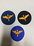 H0599 Ww2 Us Army Air Force Aaf Aviation Cadet Sleeve Patches Set Of 3 Ir45a