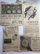 Vintage Newspaper Watch Ads Early 1900s Rolex, Simpsons, Ogolvy's Etc Lot 4