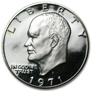 Roll 1971 S Proof Ike Eisenhower Dollar 40 Silver Avg Condition W/ Bag Marks