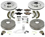 Fits For 2011-2012 Ford Escape Front Disc Brake Rotors Rear Drums Shoes 12pc