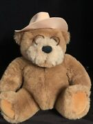 Lands End Gund Big Daddy Teddy Bear In Hat And Glasses Plush Toy Doll 1992