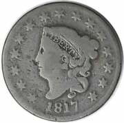 1817 Large Cent 15 Stars G Uncertified