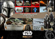 Star Wars Action Figures Hot Toys Toy Sapiens Mandalorians And The Child Set Of 2