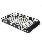 64 Universal Black Roof Rack Cargo Carrier W/ Extension Luggage Hold Basket Suv