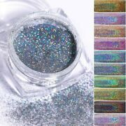 Holographic Glitter Nail Powder Laser Silver Diy Shimmer Manicure Pigment Tools