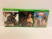 Xbox One 3 Lots3 The Wolf Among Us/ Ryse Son Of Rome/ Zoo Tycoon Videogames