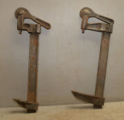 2 Vintage Colt Batavia Ny Usa Collectible 12 Heavy Duty Wood Working Clamp Lot