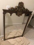 """Vintage Victorian Gold Gild Carved Wood Mirrordated/numbered """"3533"""""""