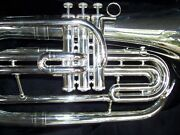 New Silver Marching Baritone Monel Valve Bb Horn