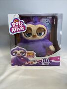 Pets Alive Fifi The Flossing Sloth Battery-powered Dancing Robotic Toy New 2020