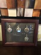 4star Trek Collector's Pocket Watch's Franklin Mint And Display Glass Case Rare