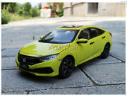 1/18 New For Honda Civic 2019 Diecast Metal Car Model Toys Boy Girl Gifts Green