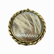Victorian 10k Gold 7grams Mourning Hair Art Jewelry Brooch Mch 13 1900 Jmf And Co