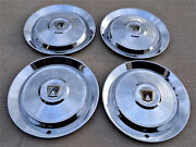 1952 1953 Ford Used Accessory Large Hubcaps 4 Wheel Covers.