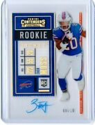 2020 Panini Contenders Zack Moss 131 Acetate Rookie Clear Ticket Auto 8/10 Sp