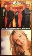N'sync Live Msg + Britney Spears 1 Video Requests Justin Timberlake 2 Vhs Tapes