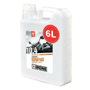 Oil Ipone 10.4 Synthetic 6 Liters 10w40 6l Motorbike Route Engine Can Promotion