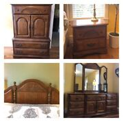 Sumter Windsor Hall Collection Solid Oak Queen Bedroom Set Local Pickup Only
