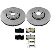 Front Disc Brake Rotors Ceramic Brake Pads For Lexus Gs450h And03913-and03918 3pc Kit