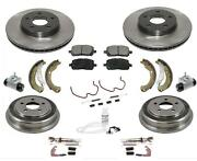 For 07-08 Cobalt 5 Lug Rotors Cars With Rear Drums Front Rotors Ceram Pads 12pc