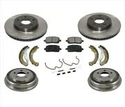 For 07-08 Cobalt 5 Lug Rotors Cars With Rear Drums Front Rotors And Ceram Pads 7pc