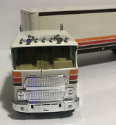 """Schoep's Ice Cream Vintage 21"""" Toy Delivery Semi Trailer Truck"""