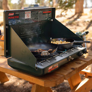 Portable Propane Gas Stove Adjustable 2 Burner Bbq Grill Cooker Outdoor Camping