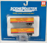 Walthers Scene Master Ho Train Trailer 2-pack Union Pacific 187 949-2427 35 Ft
