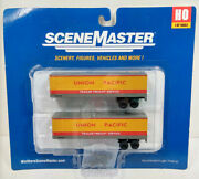 Walthers Scene Master Ho Train Trailer 2-pack Union Pacific 187 949-2406 35 Ft