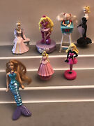 Misc Lot Barbie Figures Ornaments Toys Mcdonalds Cake Toppers As Shown