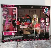Rare Monster High ❤️ Die-ner 2 Doll Set Draculaura Operetta Dolls And Playset New