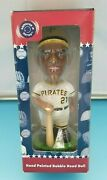 Roberto Clemente Pirates - Hand Painted Bobblehead W/ Box - Hall Of Fame Series