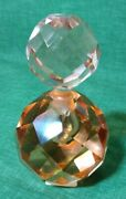 Vintage Pink Depression Glass Perfume Bottle 5in Tall