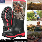 Hisea Womenand039s Hunting Boots Breathable And Insulated Rubber Muck Mud Working Boots