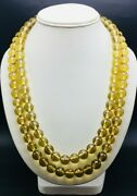 Beer Quartz Faceted Round Ball Shape Beaded Necklace Loose Beads Of 1mm Drill