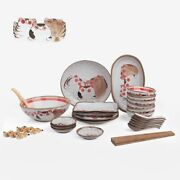 Cute Japanese Ceramic Dish And Mixing Bowl Dinner Set For Home Tableware Ornaments