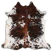 Real Cowhide Rug Normandie Tricolor Size 6 By 7 Ft Top Quality Large Size