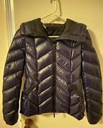 Authentic Moncler Jacket Women Navy Size 0 Lightly Used - Excellent Condition