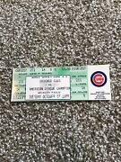 Chicago Cubs World Series 1989 Full Ticket Gm 2 Very Nice Ex-mt Great Item Rare