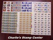 Crisp Old Lot Of 7 Us Full Sheets Of 10 Cent Stamps From Collection B. Mnh Og