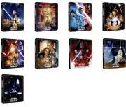 Star Wars Episode 1 - 9 4k Uhd + Blu-ray Steelbook Complete Collection - New