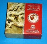 2012 Perth Mint Coin Show Year Of The Dragon 2 Ounce Proof Coin Nice Scarce