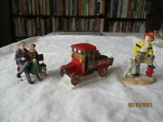 1994 Coca Cola Town Square Collection Firemanbench Truck Couple