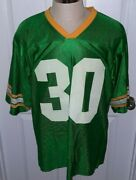 Vintage John Deere Tractor Men's Football Jersey Green 30 Made In Usa Size Xl